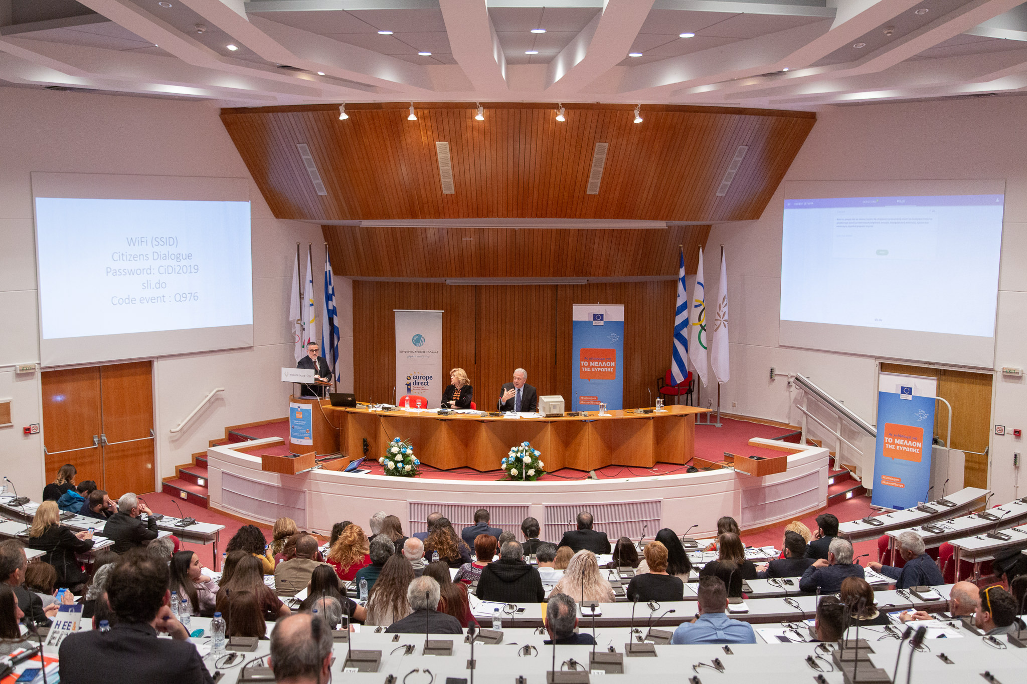 Citizens' Dialogue in Olympia with Commissioner Corina Creţu