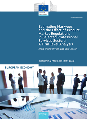 Estimating Mark-ups and the Effect of Product Market Regulations in Selected Professional Services Sectors: A Firm-level Analysis
