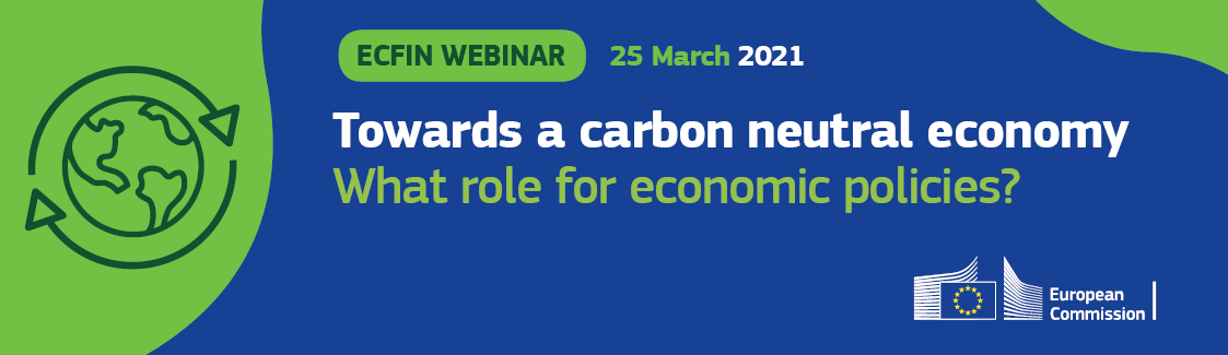 ECFIN webinar on the economics of climate change, 25 March