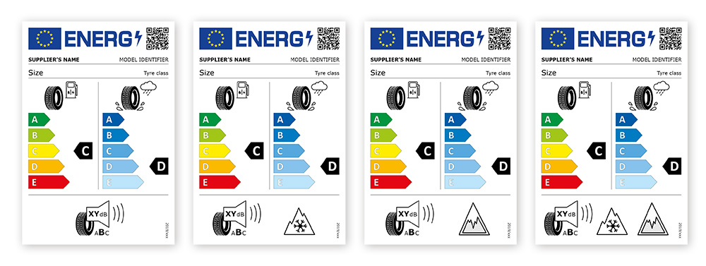 Energy labels tyres