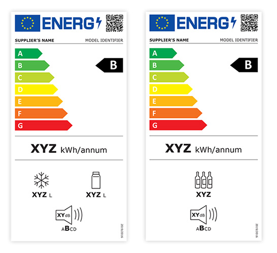 Rescaled energy label for fridges and freezers