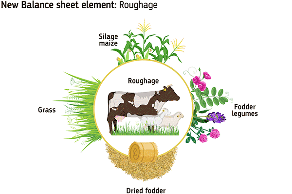Image showing the mix of roughage in animal feed