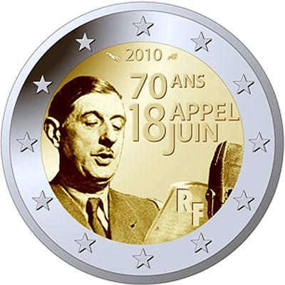 70th anniversary of the appeal of 18 June coin
