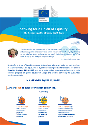 Gender Equality Strategy Factsheet - Striving for a Union of Equality: The Gender Equality Strategy 2020-2025