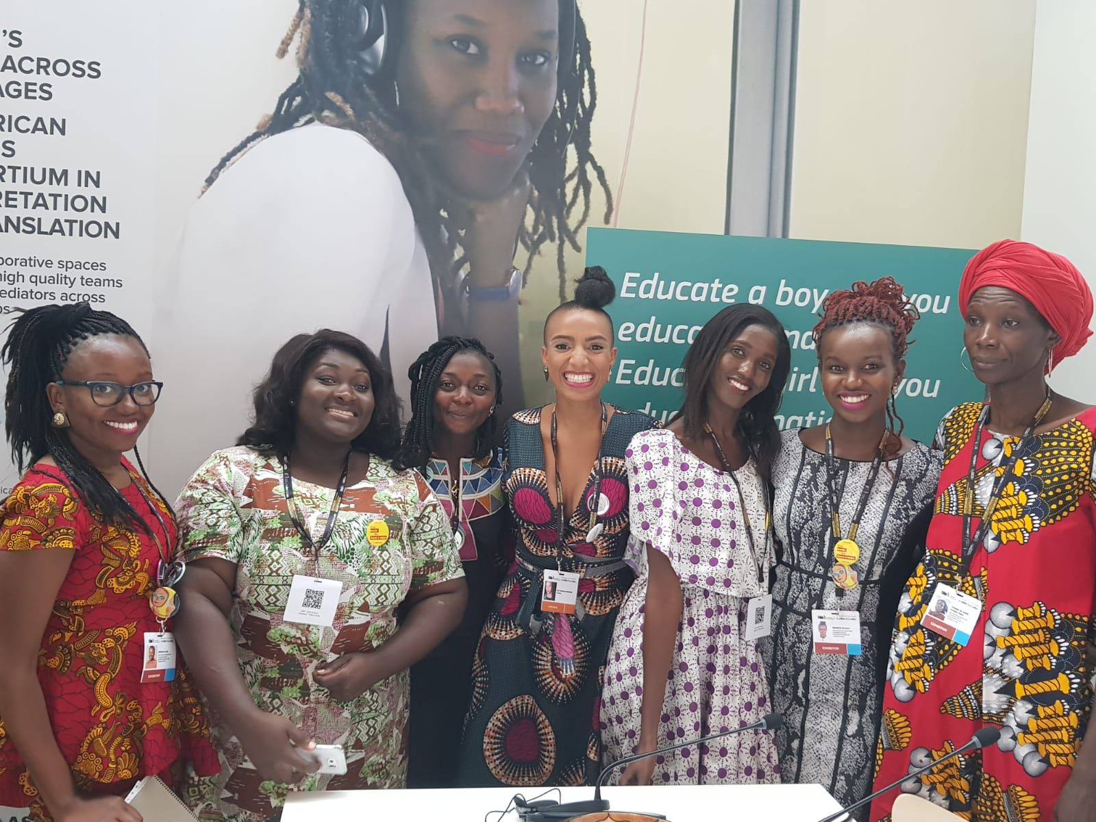 Pan-African Masters Consortium in Interpretation and Translation Graduates with Yvoire de Rosen