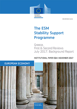 The ESM Stability Support Programme for Greece, First and Second Reviews – July 2017. Background report