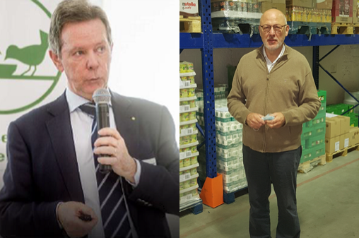 Jozef Mottar and Luc Rogge © Belgian Federation of Food Banks, 2020