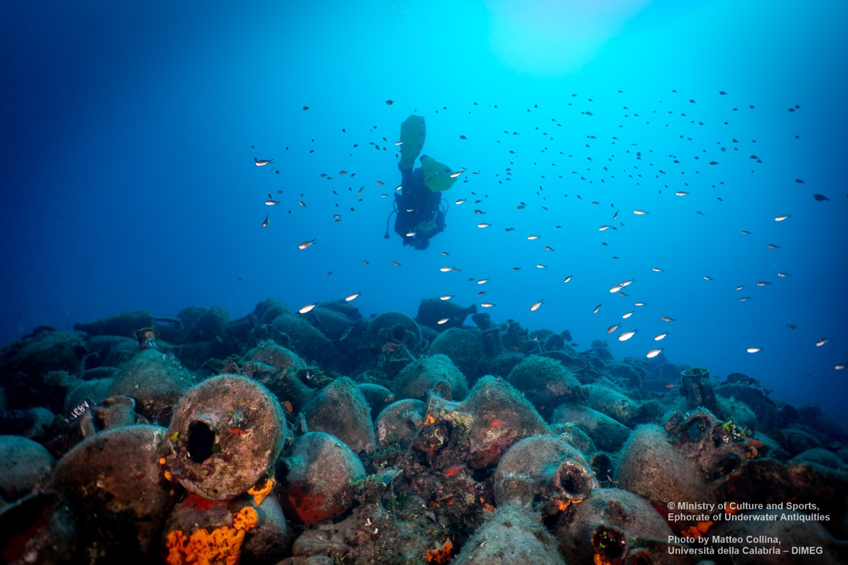 Underwater museum of Peristera © Ministry of Culture and Sports, Ephorate of Underwater Antiquities