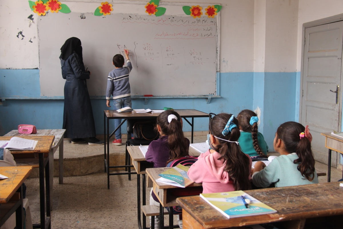 Classroom learning in Syria © People in Need, 2020