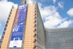 "Image of the Berlaymont banner ""Next Generation EU"""