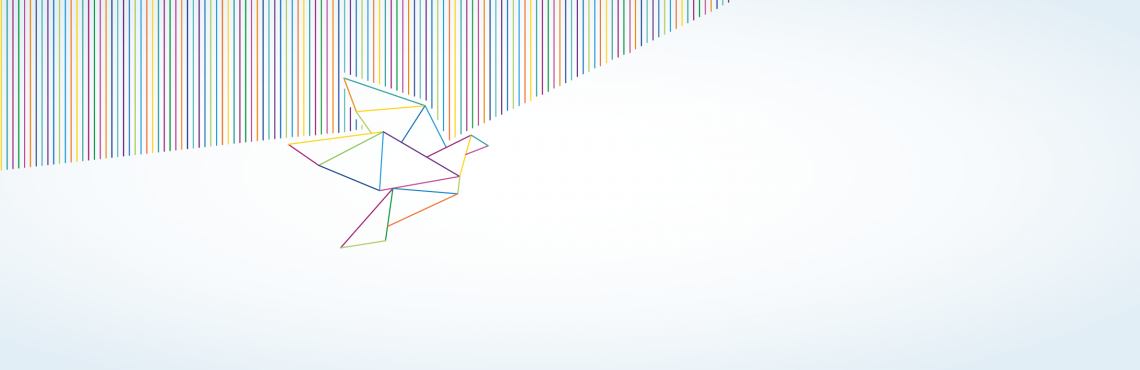 A banner image showing a paper bird