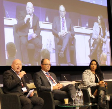 Panel Session 2, from left to right Flemming Ruud, Gunther Meggeneder and Jenitha John