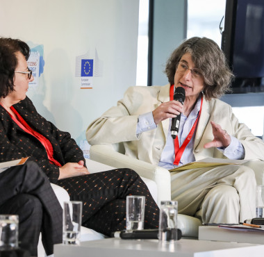 Annegret Groebel speaks at Citizen's Dialogue with Youth on Sustainable Consumption in Energy