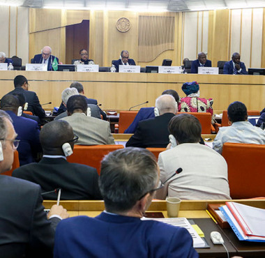 Speakers and delegates at the AU-EU Ministerial Conference in Rome