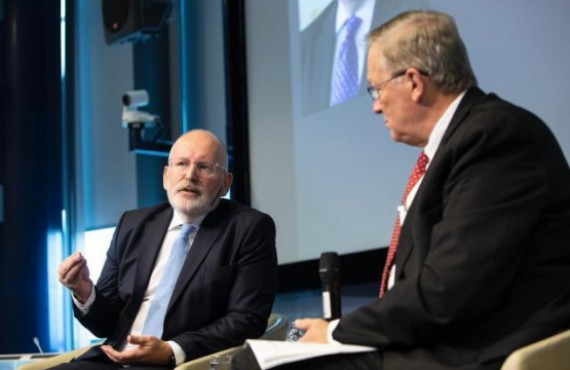 Frans Timmermans and Richard Chambers at the Internal Audit Service 2018 Conference