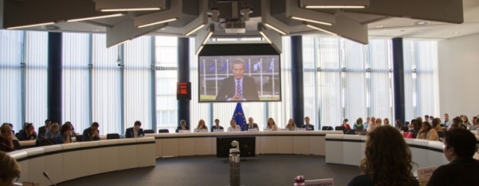 Photo: Commissioner Oettinger - SCIC Universities 2018