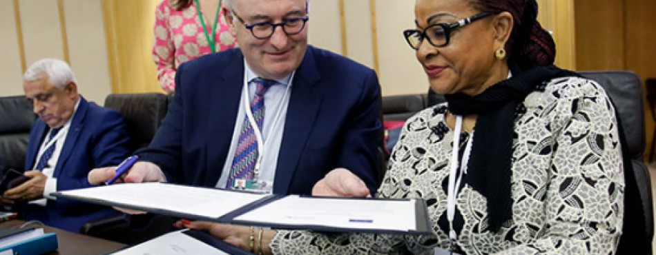 Signing of the political decleration and action agenda at the AU-EU Ministerial Conference on 21 June 2019