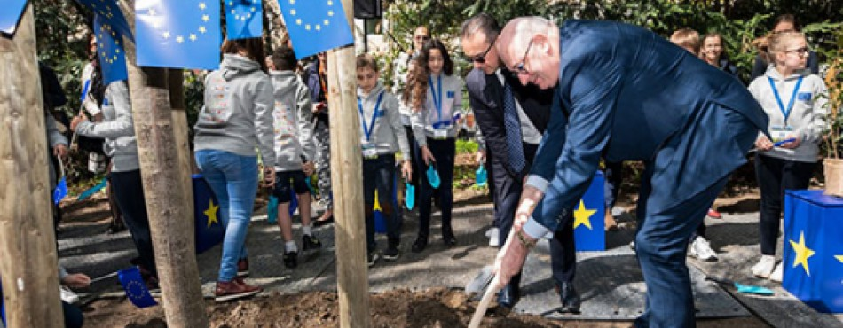 Tree planting, Commissioner Hogan, Our Forests, Our Future conference 26 April 2019