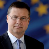 A picture of Commissioner Valdis Dombrovskis
