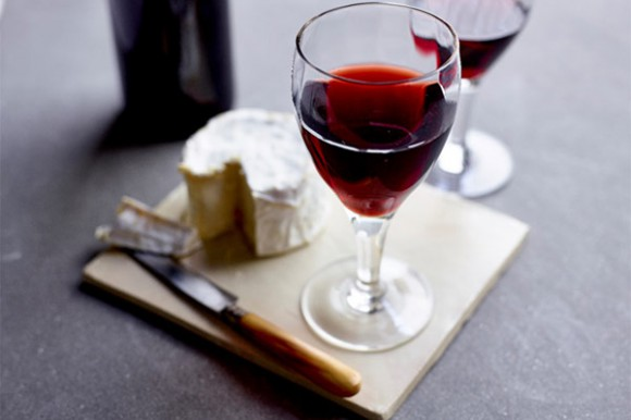 Bordeaux wine and cheese board