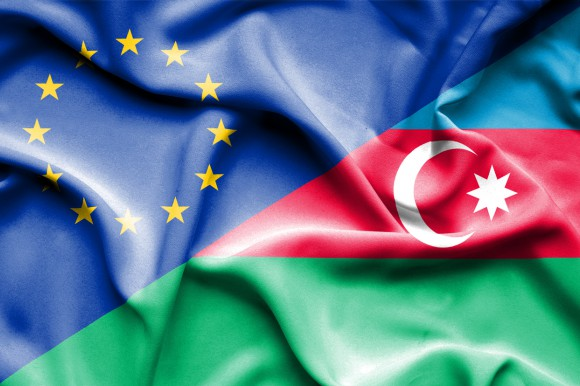 flag of Azerbaijan and the European Union