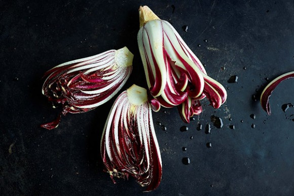 Bright red with a slightly bitter flavour, Radicchio Rosso di Treviso uses natural spring water to bring out its particular colour and taste.