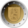 Latvia - 2 euros - coat of arms of the region of Kurzeme