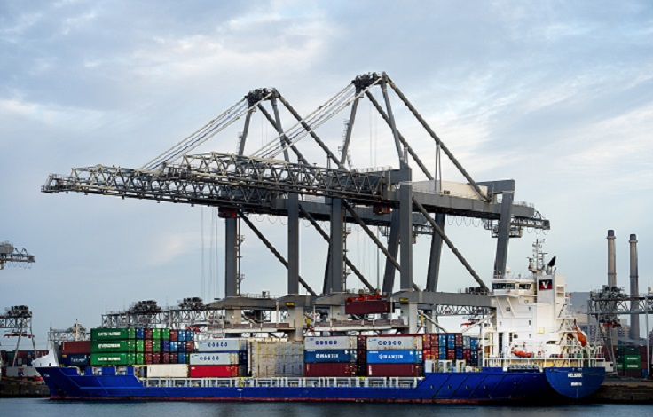 An image of a port with containers