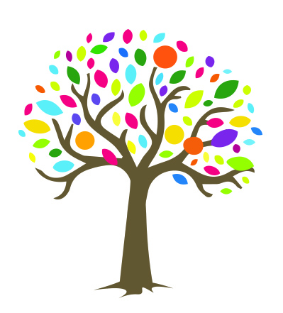 logo of the Charters representing a colourful tree