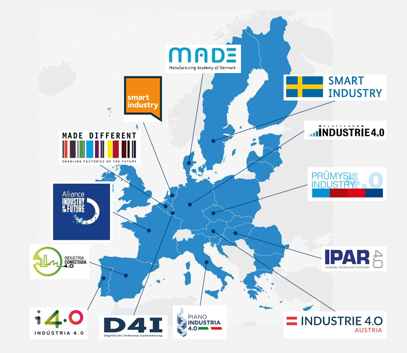 Map of the Countries participating in the industry initiative