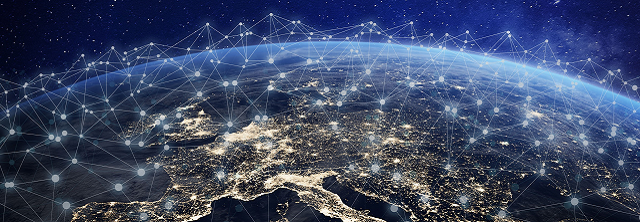 image evoking internet networks across the European continent