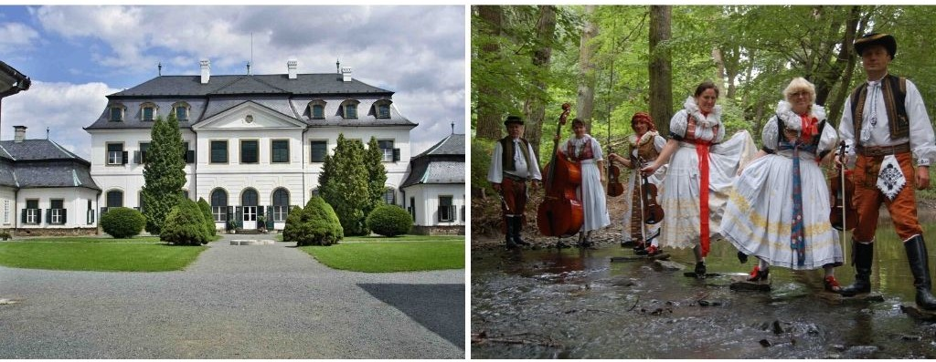 Castle and traditional costumes
