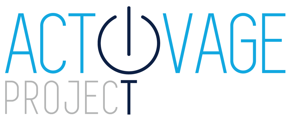 ACTIVAGE logo -- the word activage with the i replaced with an on/off switch