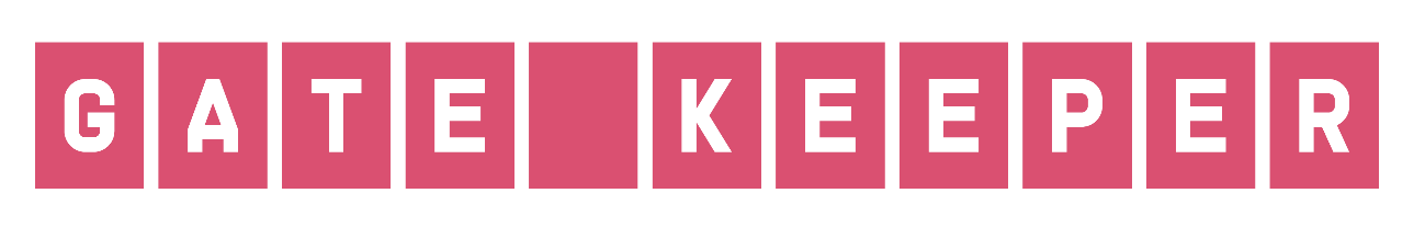 GATEKEEPER logo -- the word GATEKEEPER with each letter in a separate block