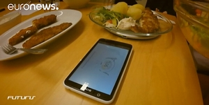 image of food and a mobile phone