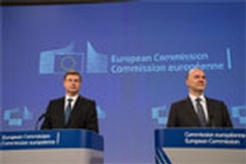 Joint press conference by Valdis Dombrovskis and Pierre Moscovici © European Union