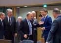 Hans Jörg Schelling, Pierre Moscovici, Jeroen Dijsselbloem and Benoît Cœur