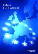 This is the cover page of the report. It is blue and represents Europe and the European stars.