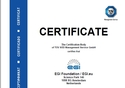 This is a picture of the ISO certificate received by EGI. It mentions the certification and the address of EGI.