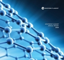 Cover page of the report showing graphene hexagonal lattice in blue background