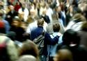 Couple in crowd © European Communities