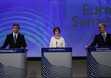 Valdis Dombrovskis, Marianne Thyssen, Pierre Moscovici © European Union , 2017