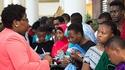 Tanzanian students at the Erasmus+ fair