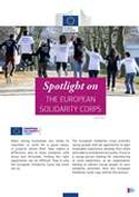 'Spotlight on the European Solidarity Corps' cover