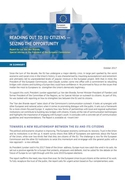 Cover of 'Reaching out to EU citizens — seizing the opportunity'