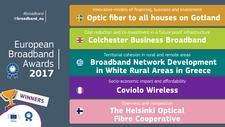 Image featuring the winners of the European Broadband Awards 2017