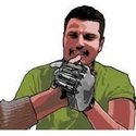 Graphic of amputee with bionic hand