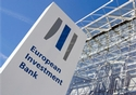 European Investment bank sign outside the Bank's building ©EIB