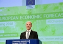 Press conference by Pierre Moscovici, Member of the EC in charge of Economic and Financial Affairs, Taxation and Customs on the Spring economic forecasts. © European Union, 2018