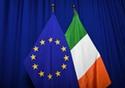 The national flag of Ireland next to the European flag © European Union, 2018